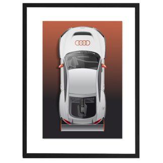 """Lichtbeständiger Druck """"TT"""" mit Pigmenttinten auf warmweißen, matt gestrichenem Lithopapier (235 gramm) im schwarzen Rahmen"""