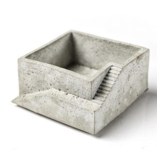 Handgegossene Designelement aus Beton.
