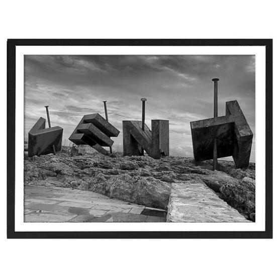 Vent, Fotodruck mit Echtholzrahmen