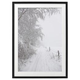 Kunstdruck gerahmt Winter