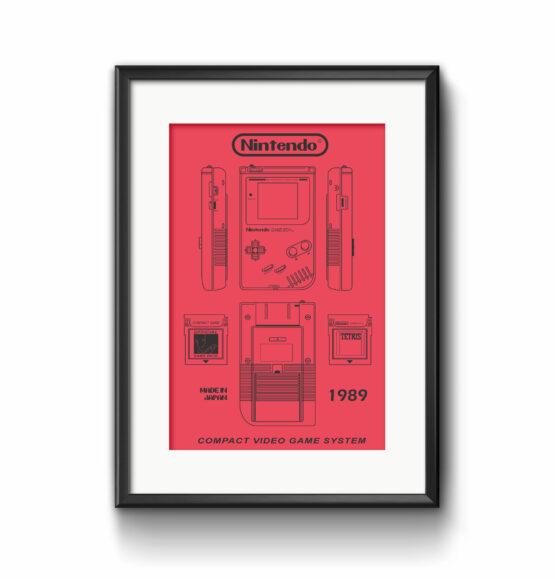 Illustration 80 iger Style Kunstdruck