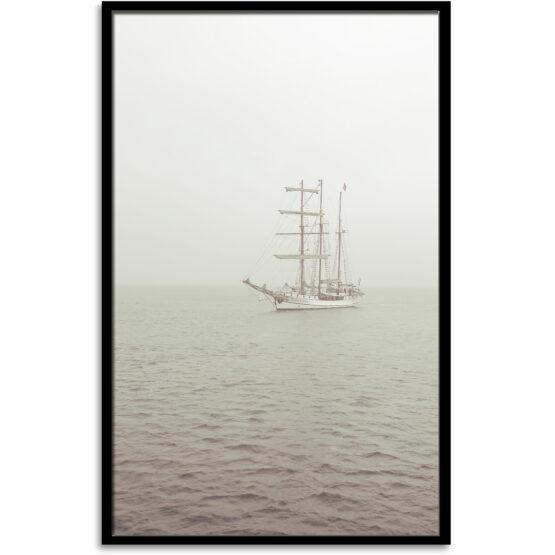 Segelschiff gerahmt 70x100 cm